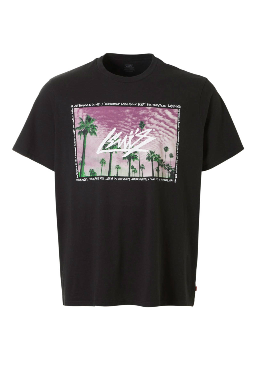 Levi's Big and Tall T-shirt, Zwart/multi