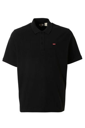 oversized polo zwart