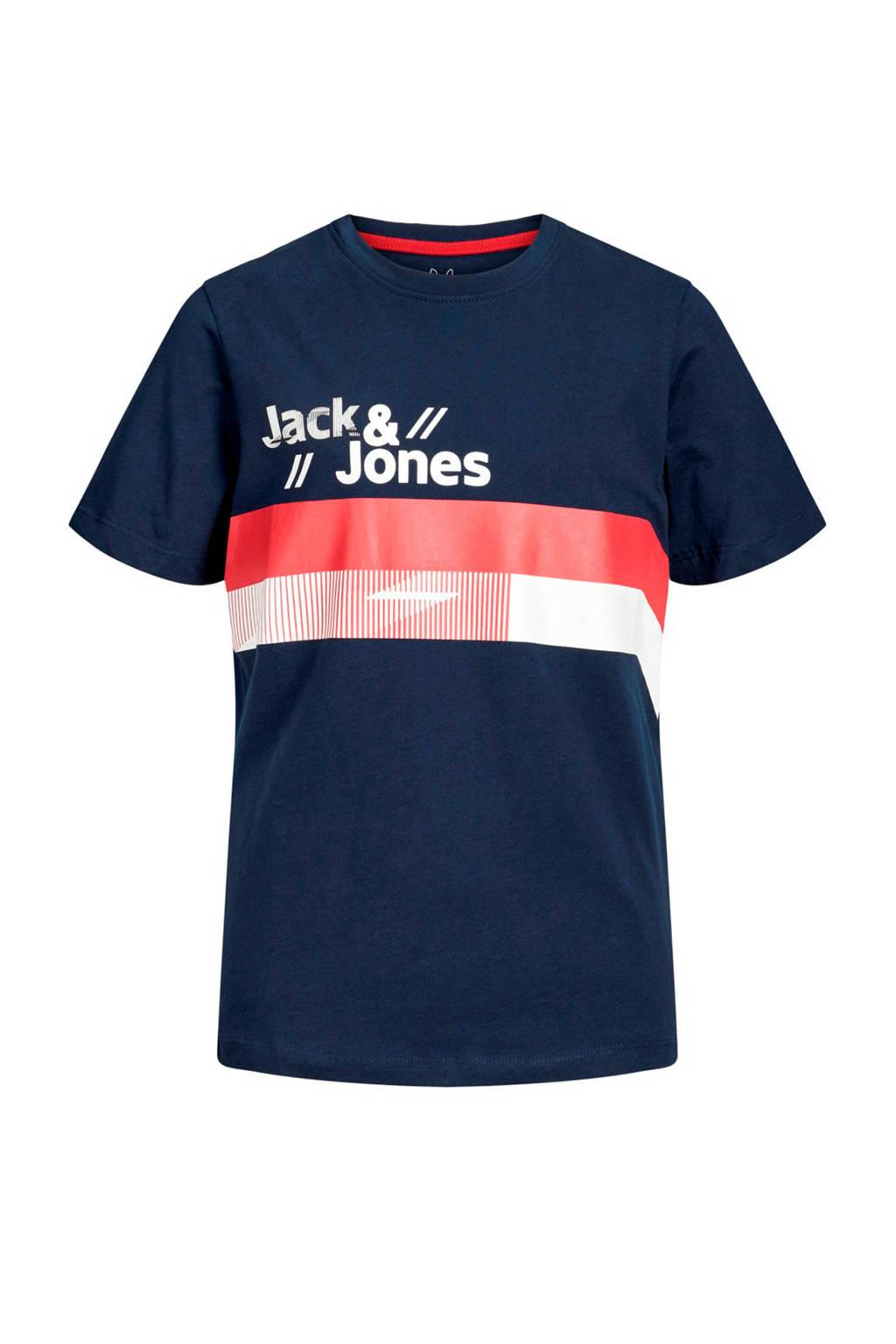 Jack & Jones Junior T-shirt Stairs met korte mouwen marine, Marine