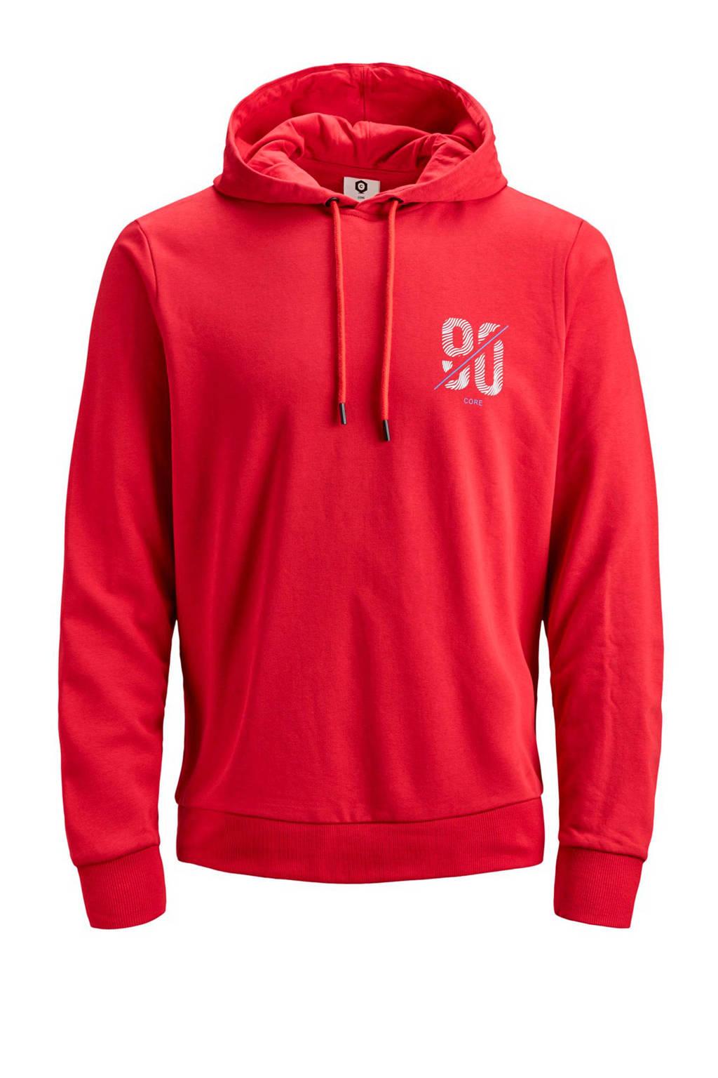 Jack & Jones Core hoodie met logo rood, Rood