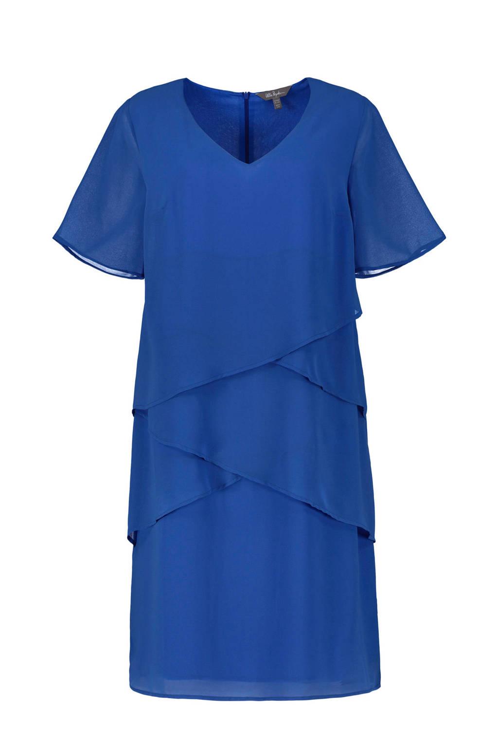 Ulla Popken jurk blauw, Blauw