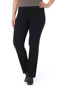 Ulla Popken broek straight fit zwart, Zwart