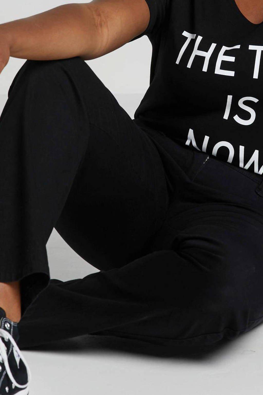 Ulla Popken straight fit jeans zwart, Zwart