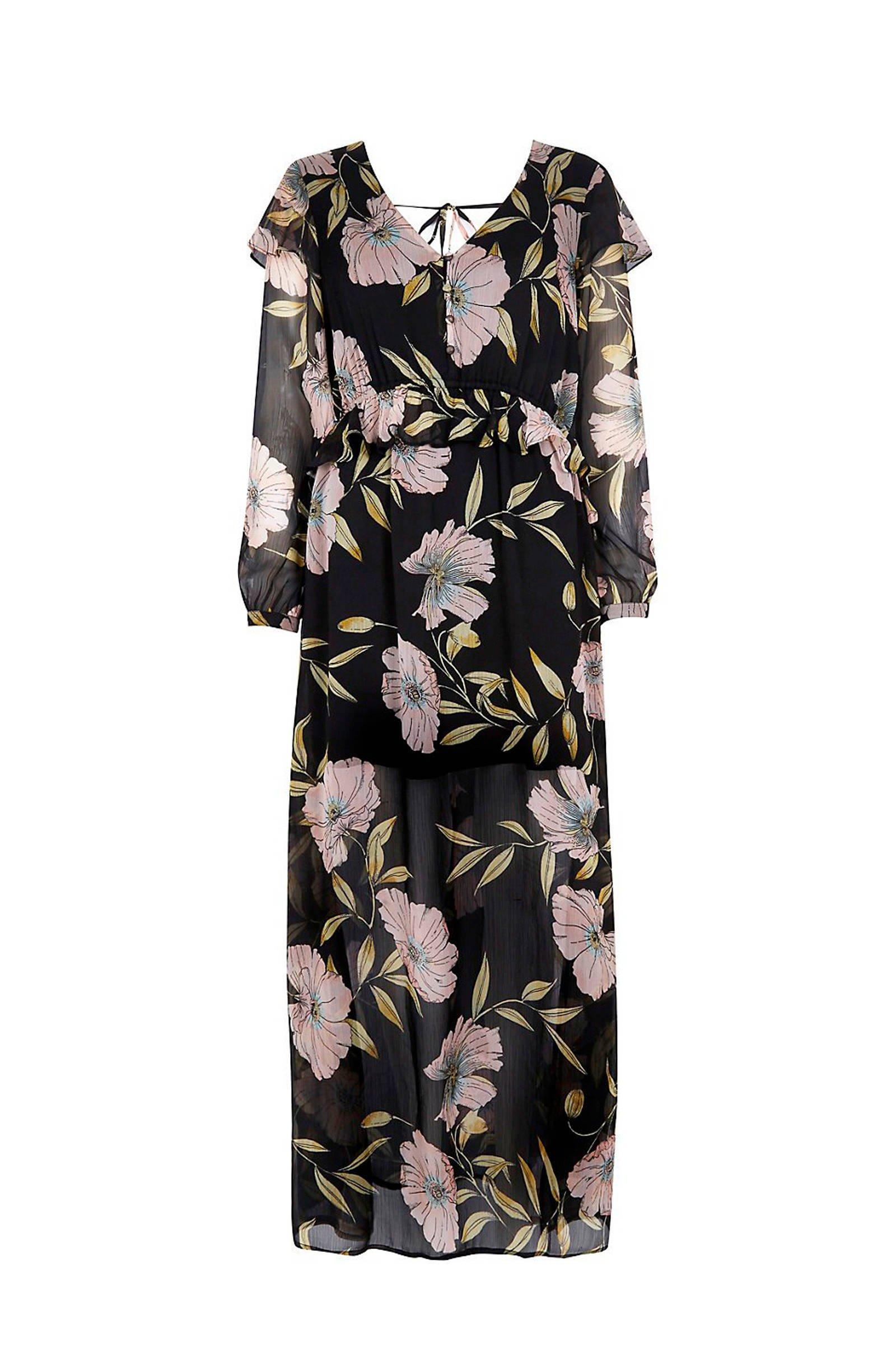driekwart jurk met split