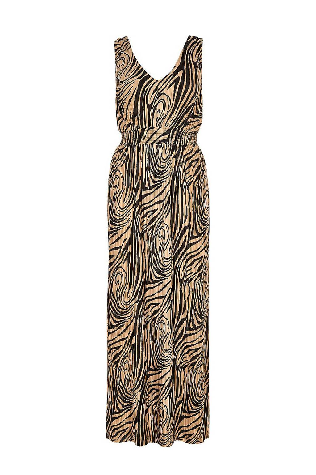 River Island jurk met all over print, Beige/zwart