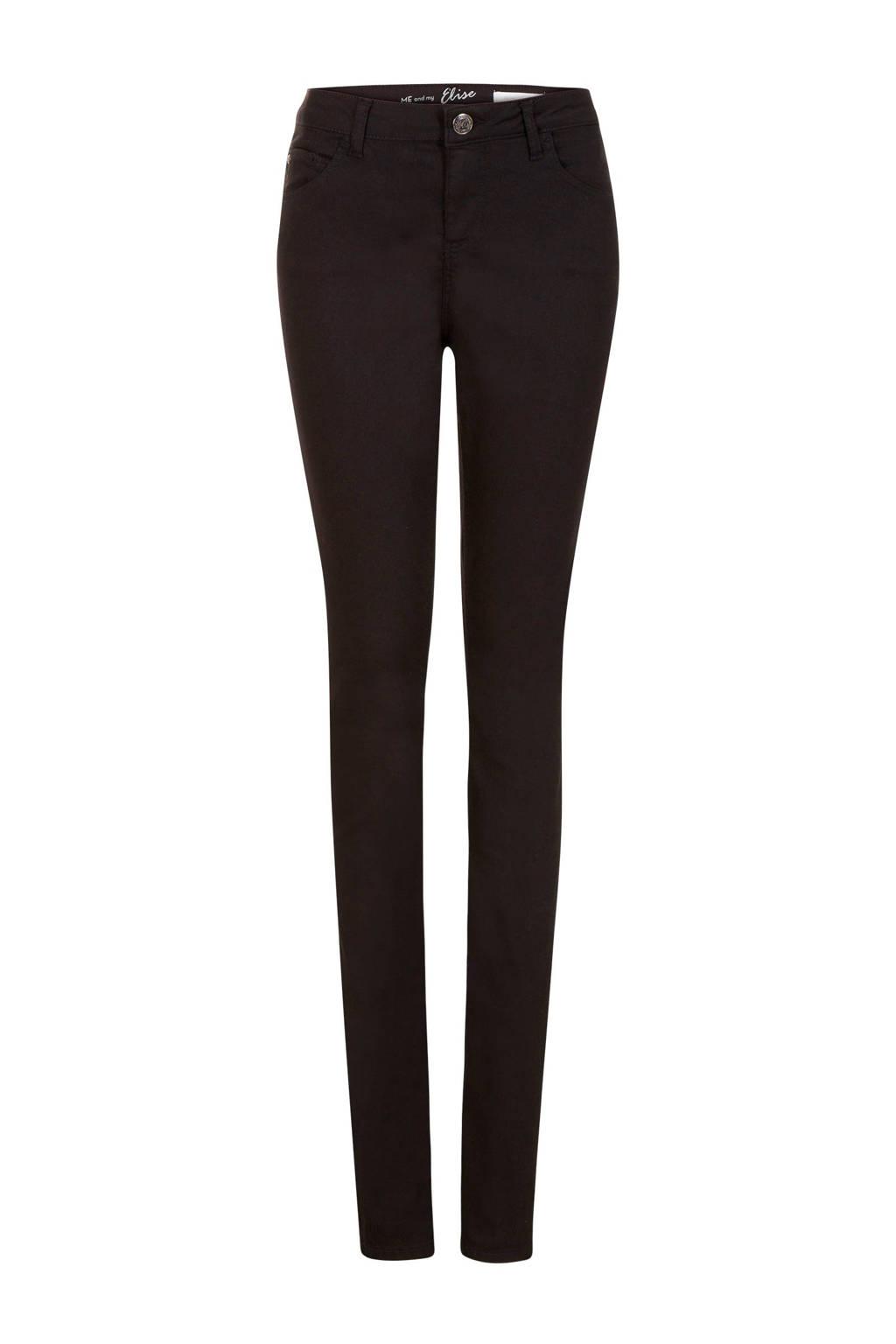 Miss Etam Lang slim fit broek Elise 36 inch zwart, Zwart