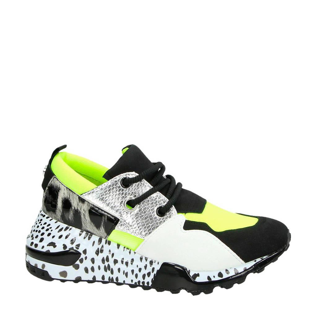 Steve Madden  Cliff dad sneakers geel, Geel/zwart/wit