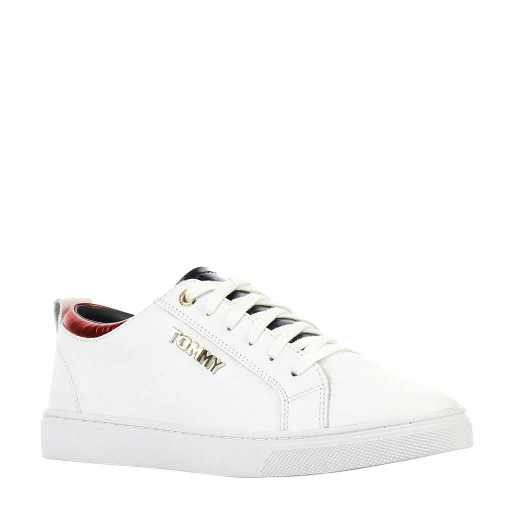 Tommy Hilfiger  City leren sneakers wit, Wit