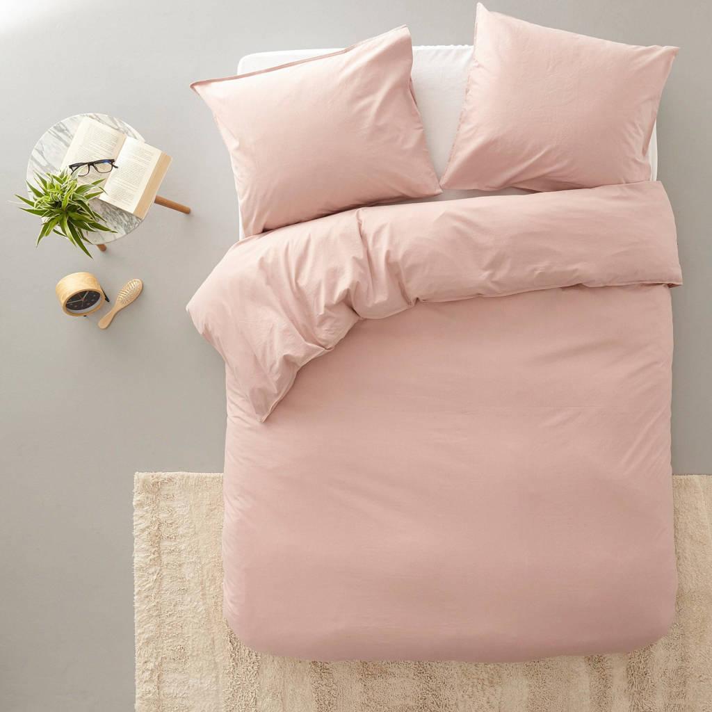 Vandyck katoenen dekbedovertrek lits-jumeaux, Lits-jumeaux (240 cm breed), Roze