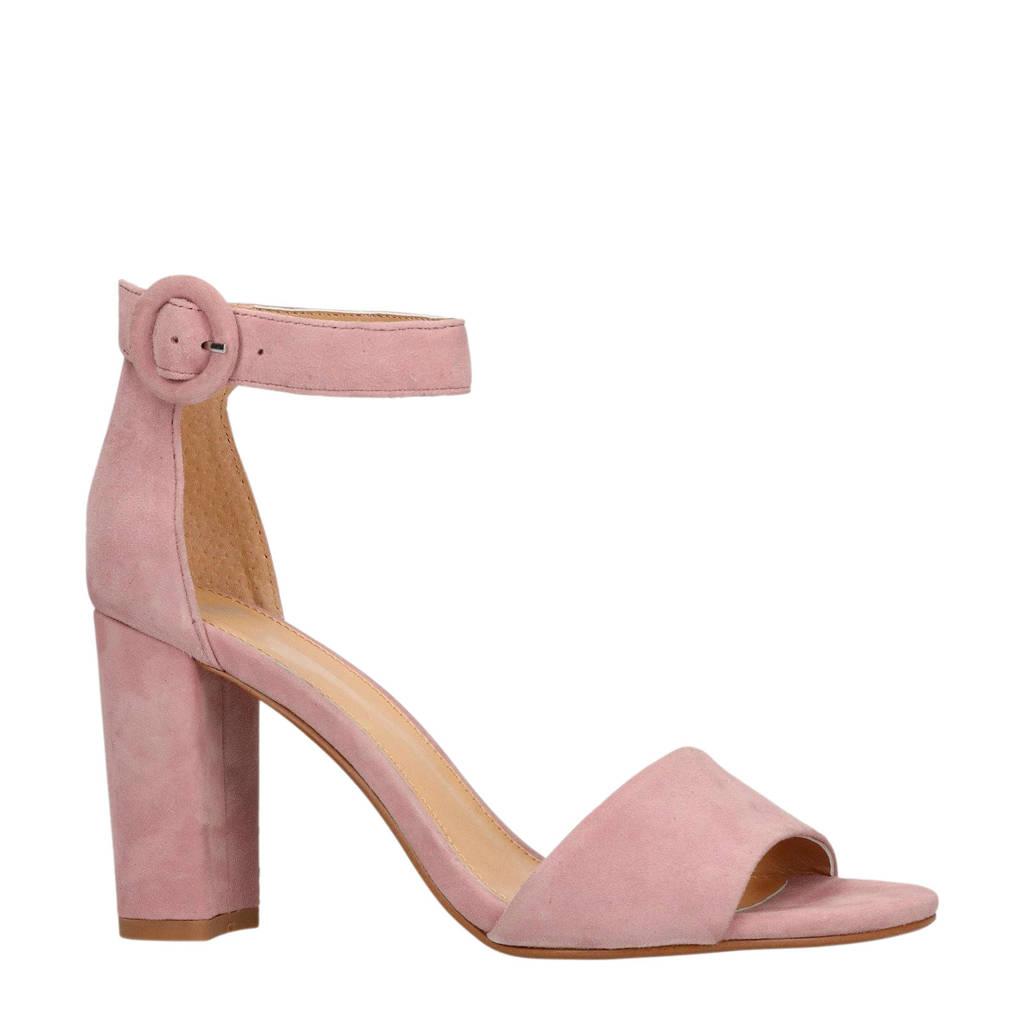 Manfield suède sandalettes roze, Roze