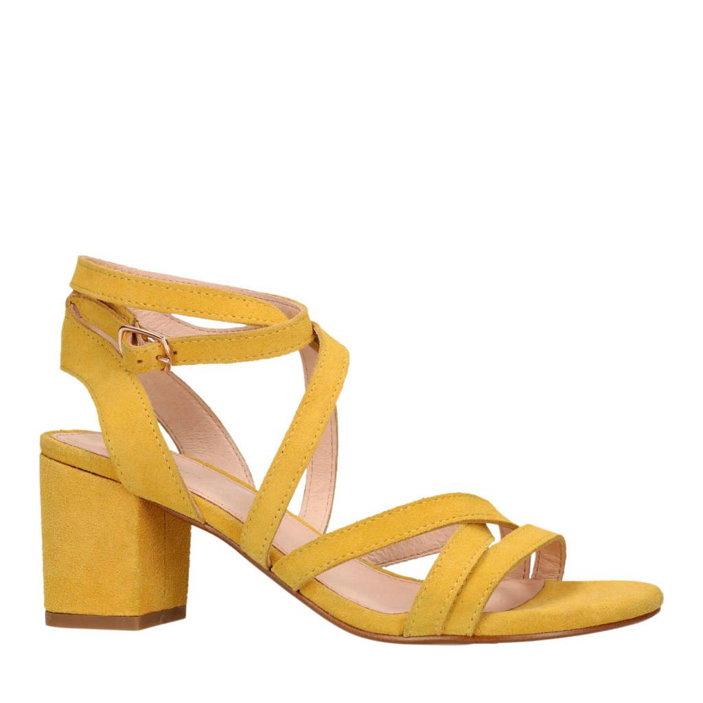 Sacha suède sandalettes geel, Geel