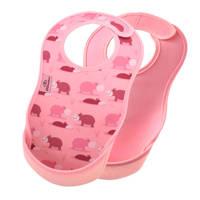 Bibetta slab roze nijlpaard - set van 2, Nijlpaard roze/roze