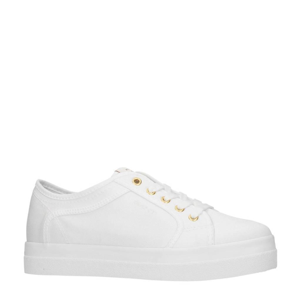GANT  sneakers wit, Wit/goud