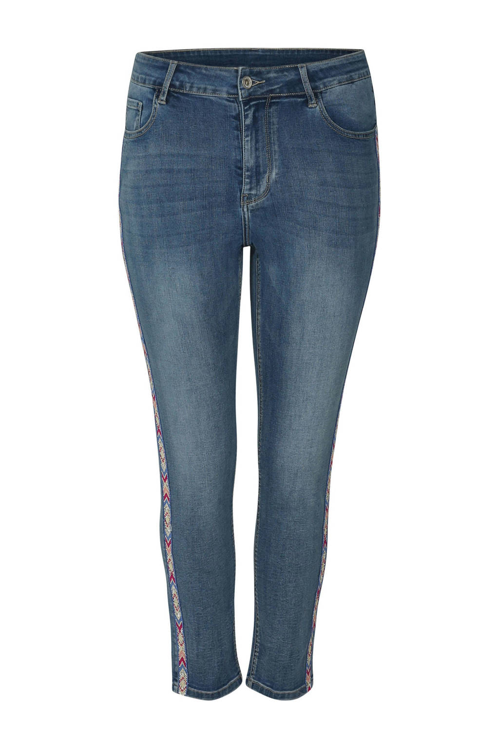 Paprika jeans met zijstreep, Blauw