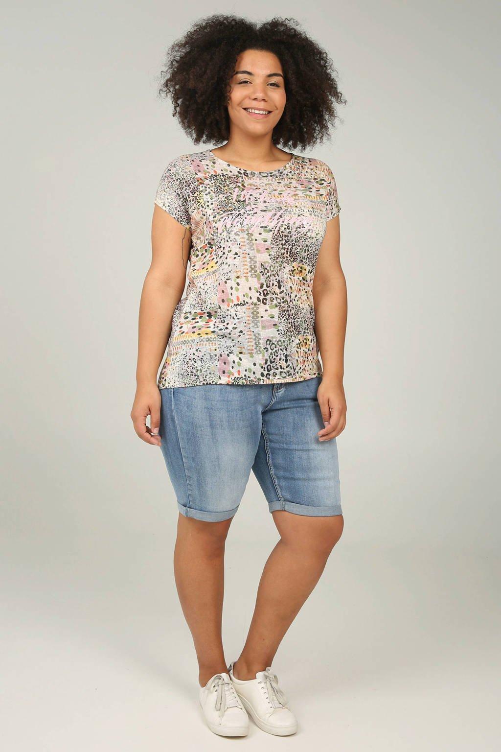Paprika regular fit jeans short, Stonewashed