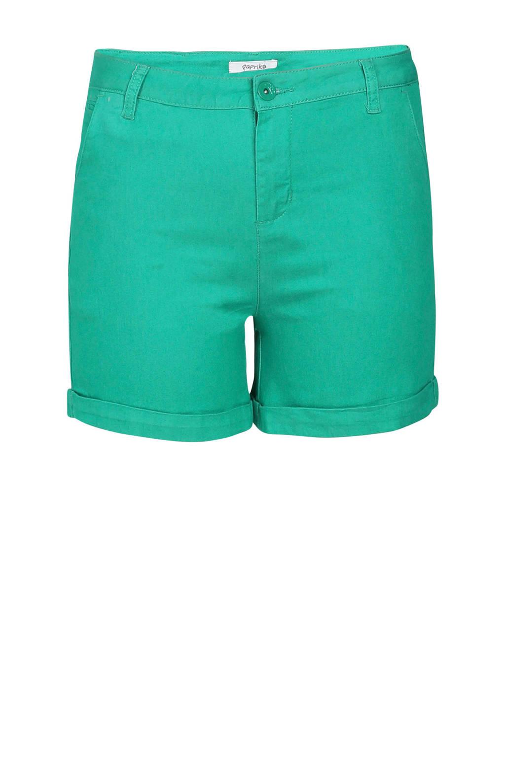 Paprika slim fit short groen, Groen