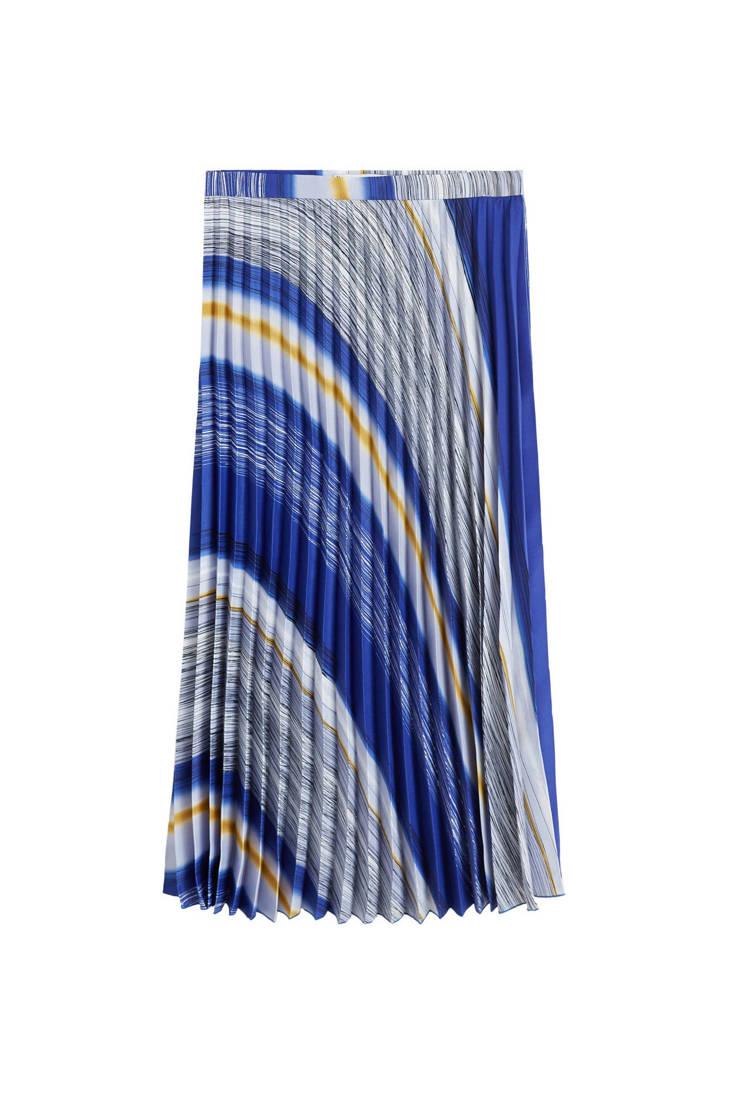Mango blauw rok rok Mango plissé plissé blauw CnqzSt