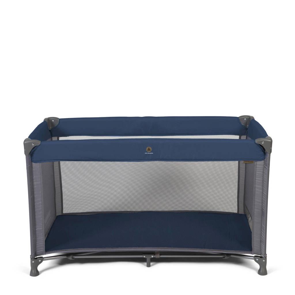 Topmark campingbed in tas blauw, Blauw