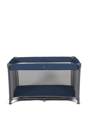 campingbed in tas blauw