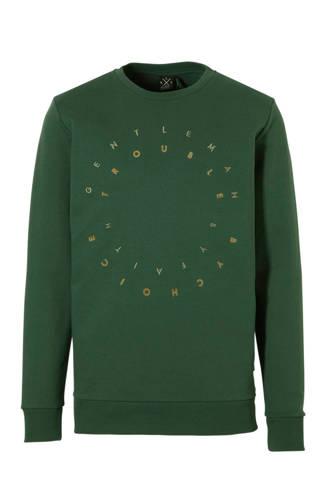 sweater met tekst groen