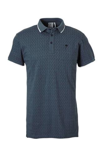 regular fit polo met print blauw