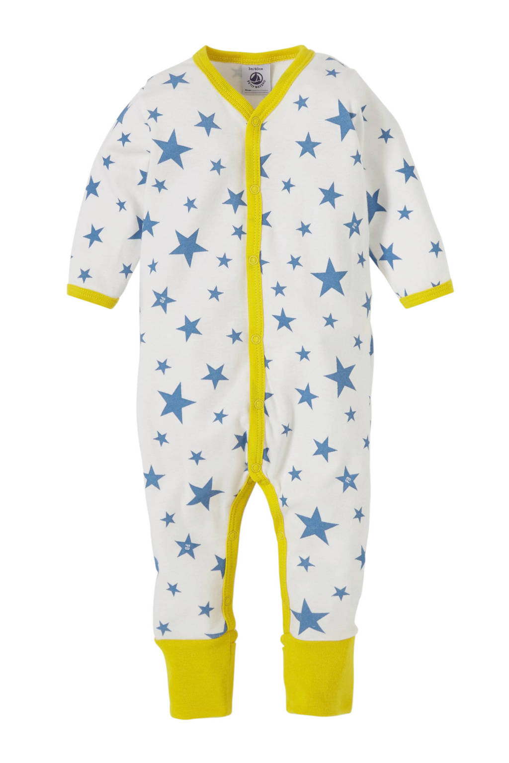Petit Bateau newborn baby boxpak, Wit/blauw/geel