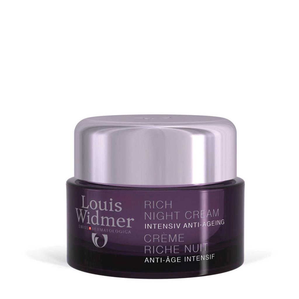 Louis Widmer Rich Intensiv Anti-Ageing licht geparfumeerde nachtcrème - 50 ml