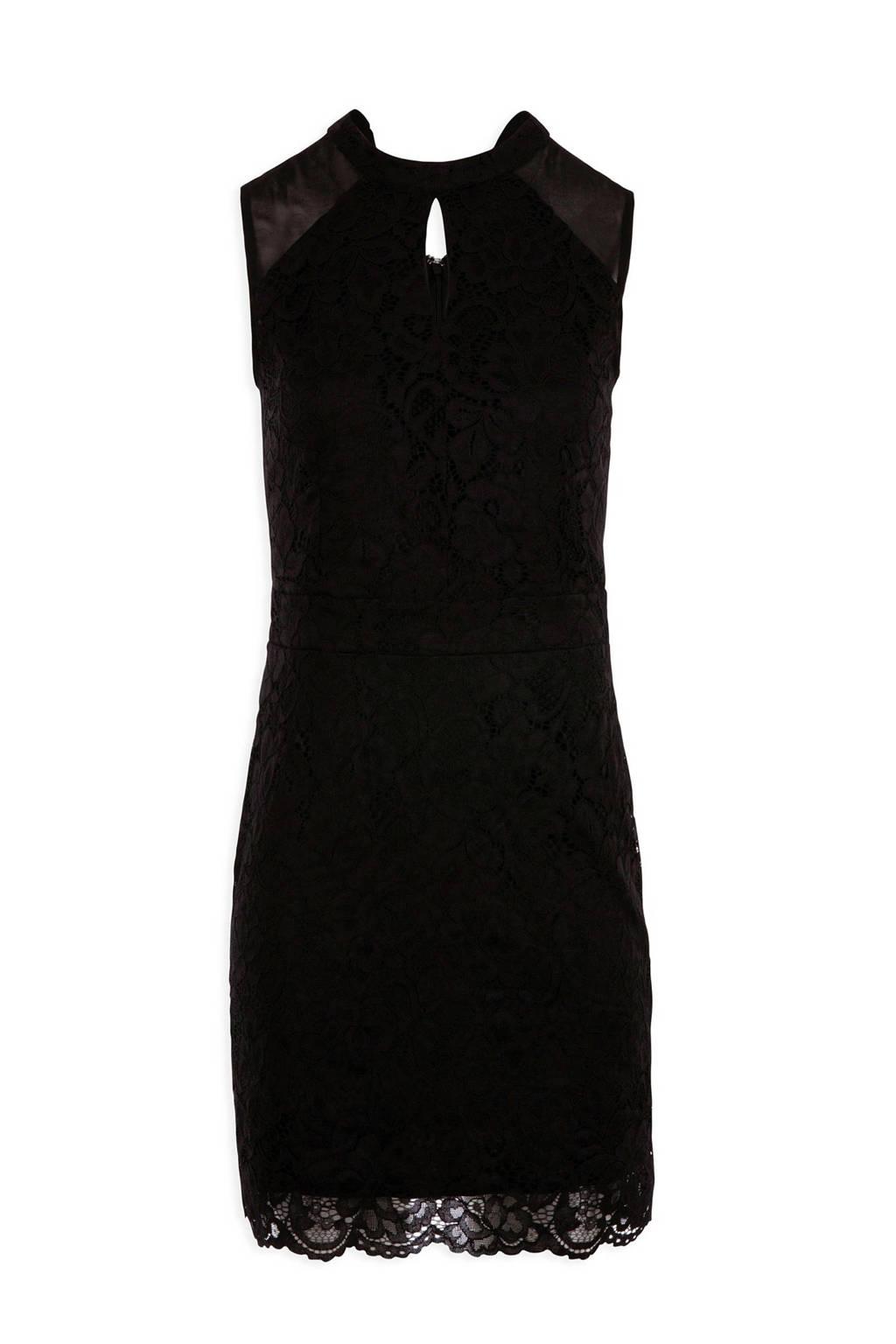 Morgan kanten jurk zwart, Zwart