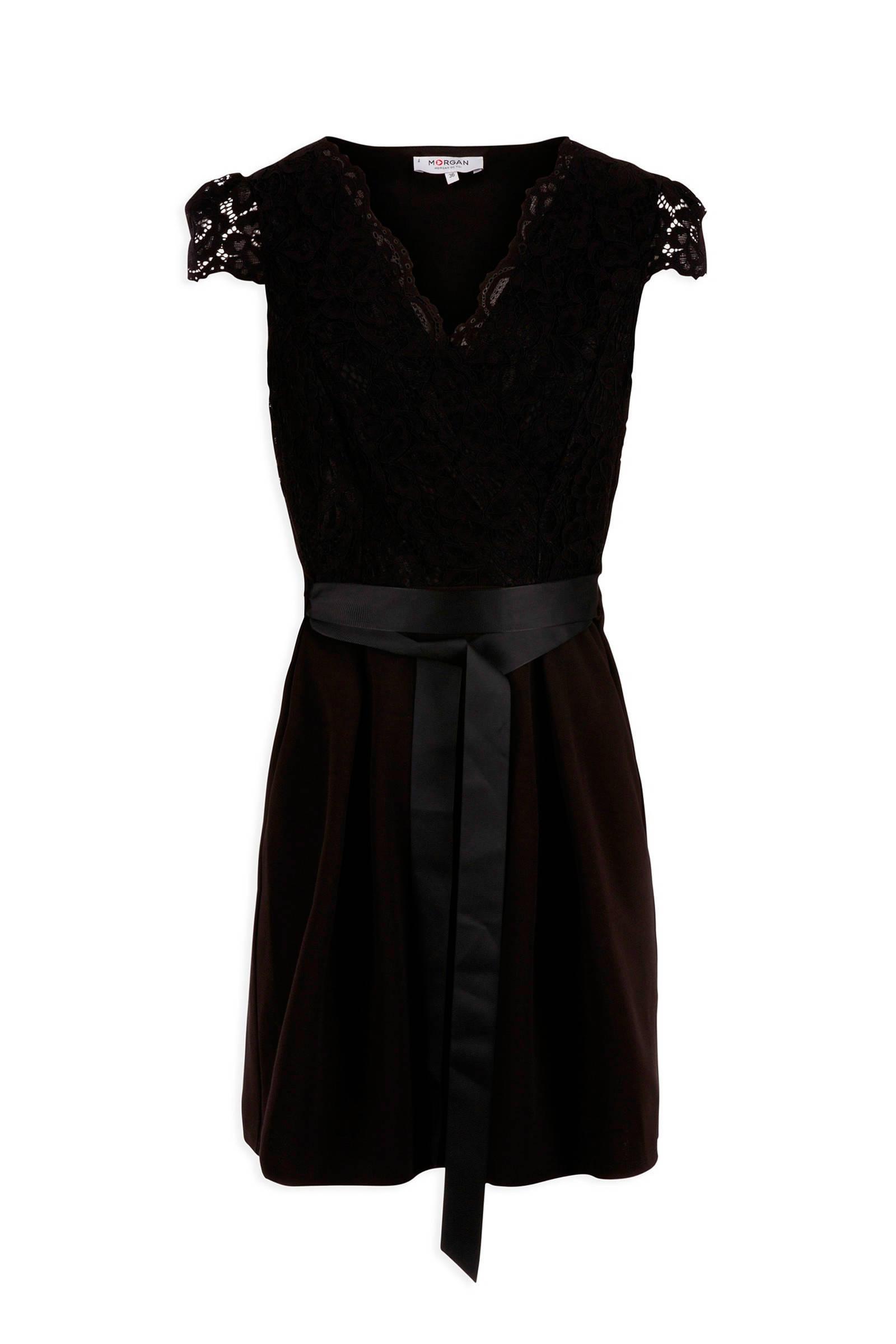 zwarte halflange jurk