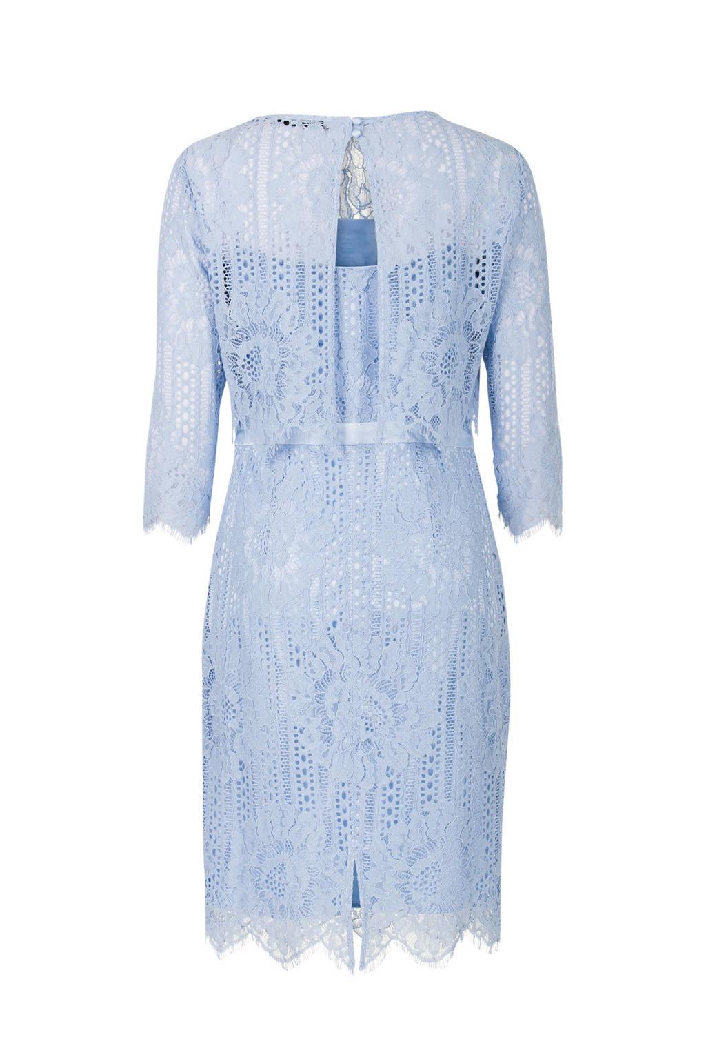 Steps jurk met kant lichtblauw, Lichtblauw