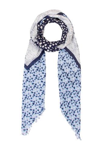 Accessoires sjaal blauw