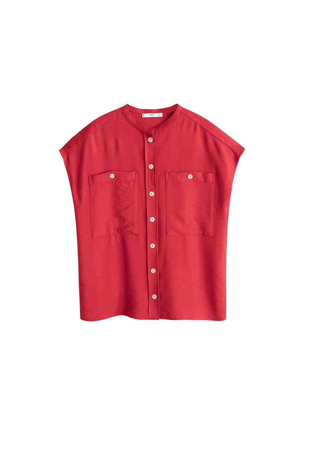 Mango blouse, Rood