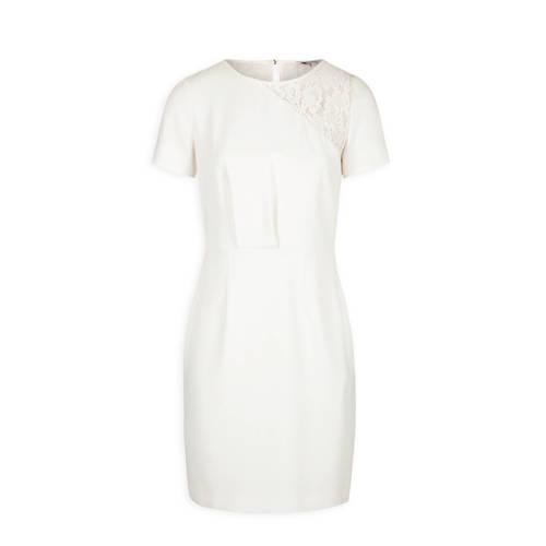 Morgan jurk met kant gebroken wit