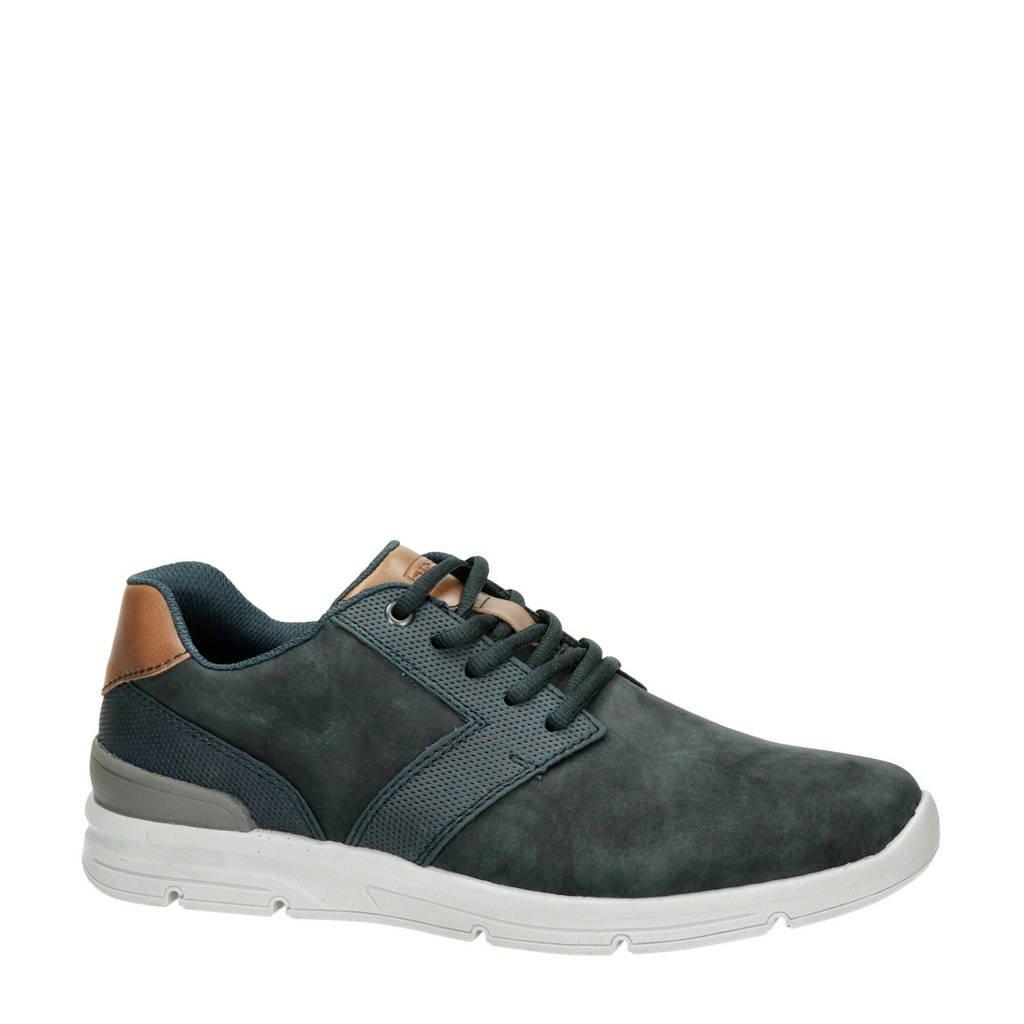Rieker  nubuck sneakers blauw, Blauw