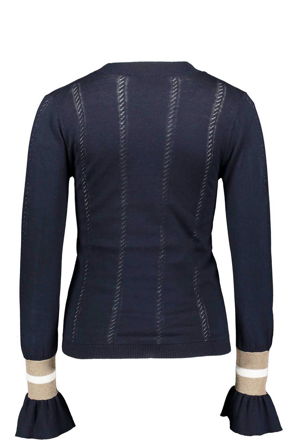Sissy-Boy trui met lurex en wol donkerblauw, Donkerblauw