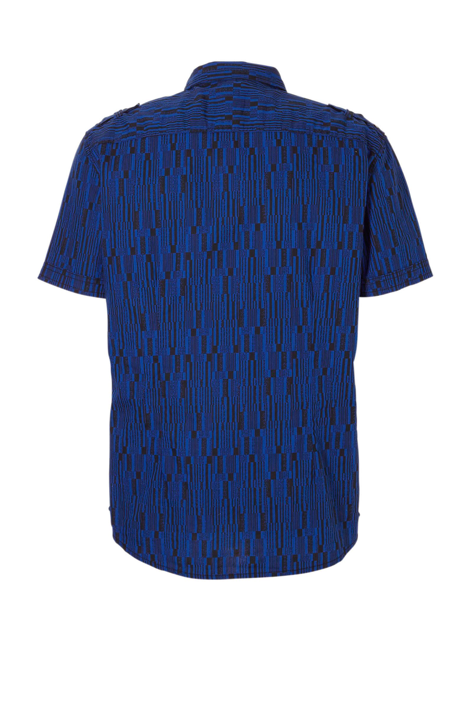 C print Angelo blauw overhemd Litrico met A rZBn6FHr