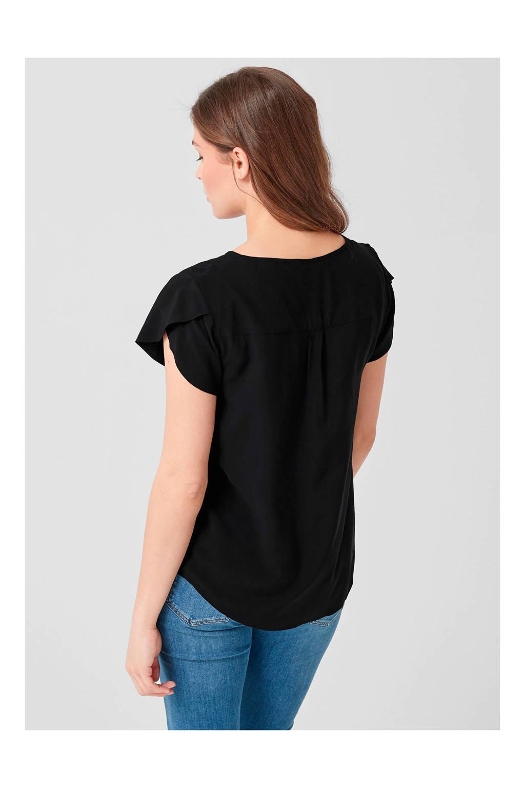 TRIANGLE top zwart, Zwart