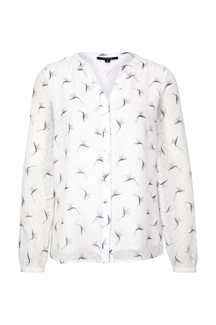 met comma all over print blouse SZWYqnTF