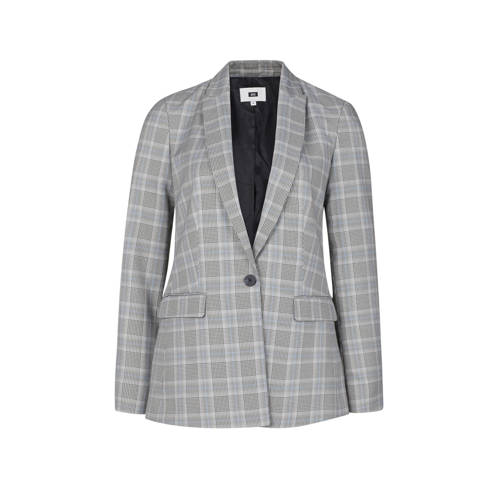 WE Fashion geruite blazer grijs