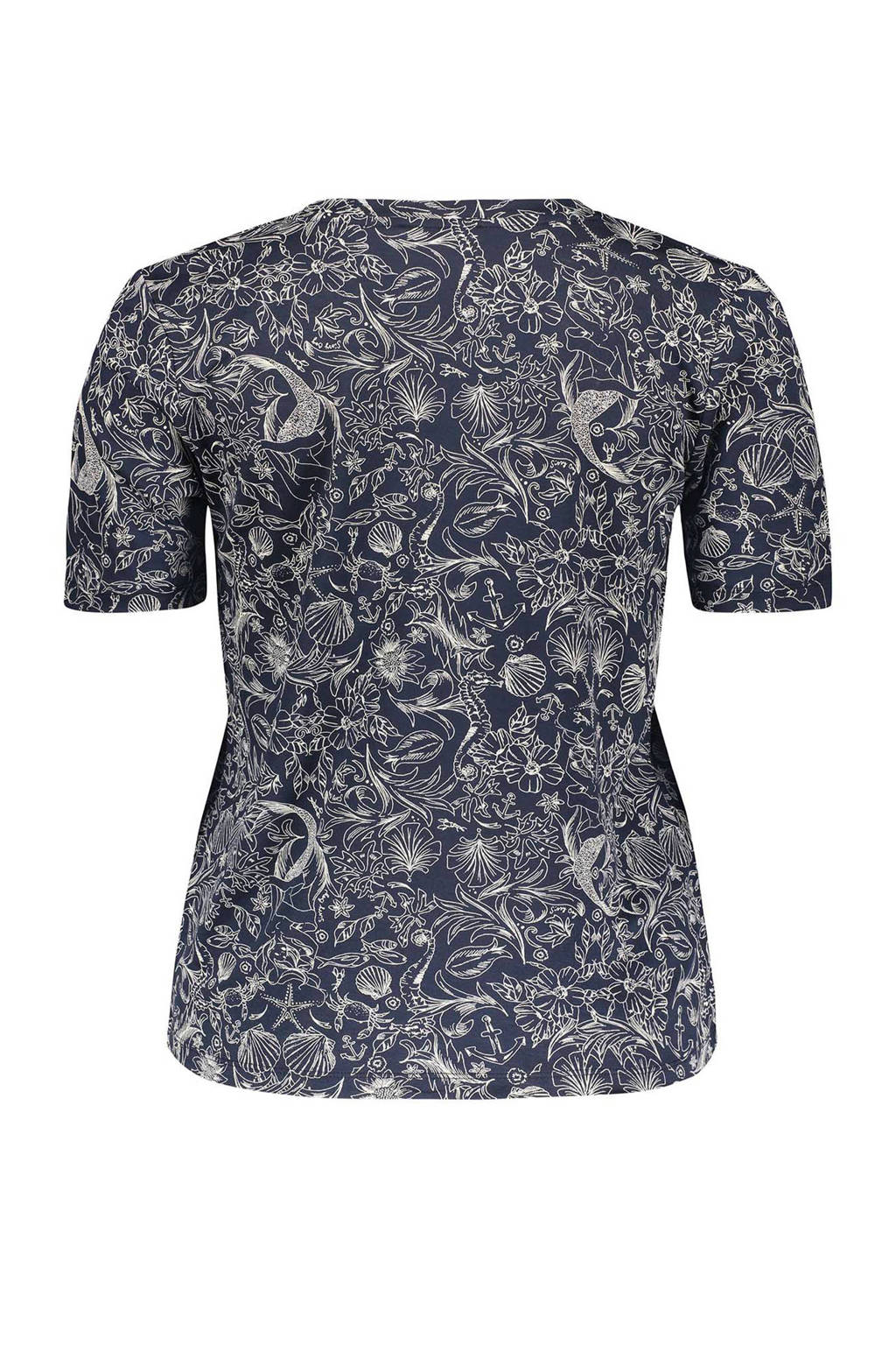 Sissy-Boy T-shirt met allover print marine, Marine