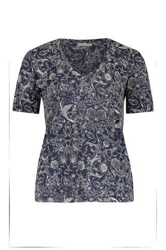 T-shirt met allover print marine
