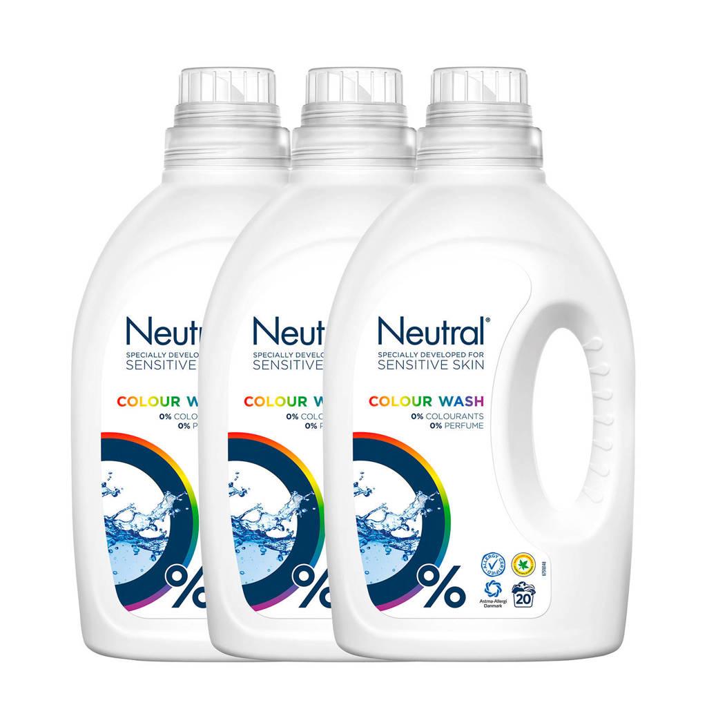 Neutral wasmiddel kleur - 60 wasbeurten - vloeibaar - parfumvrij