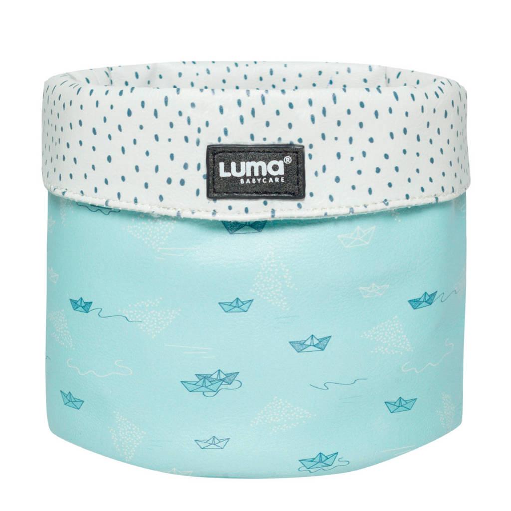 Luma verzorgingsmand paper boats, Blauw