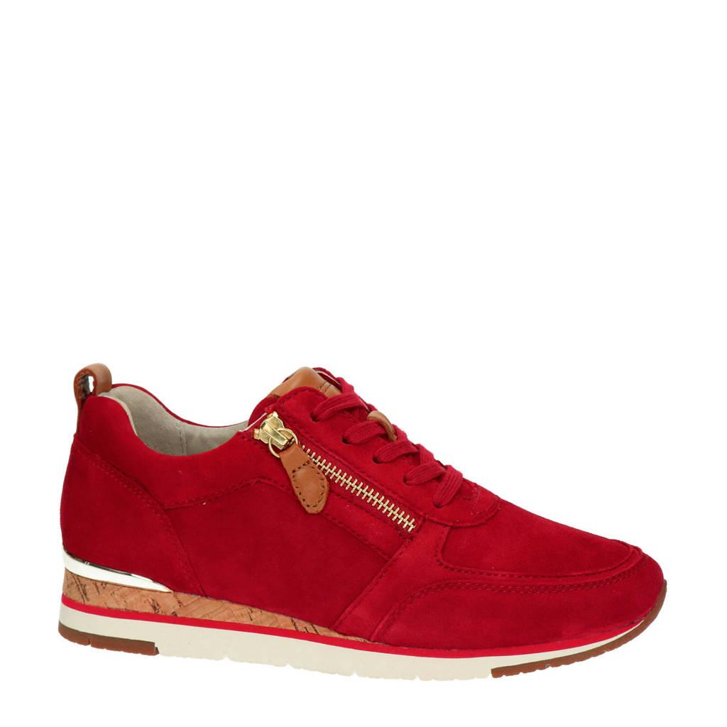 Gabor   suède sneakers rood, Rood