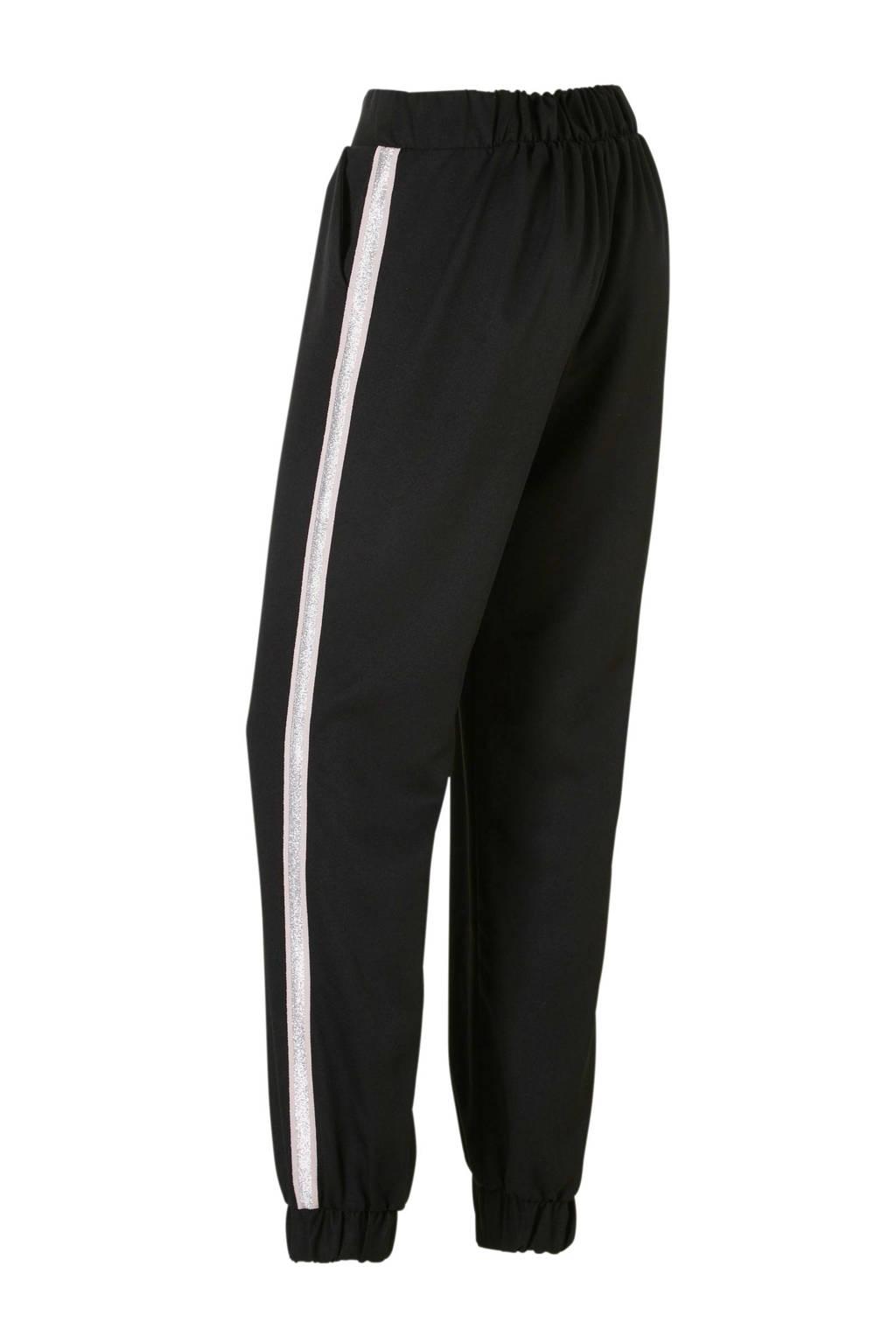 C&A Clockhouse broek met zijstreep zwart, Zwart