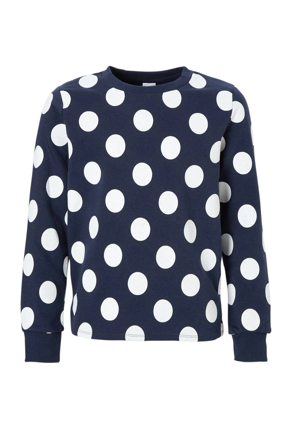 C&A Here & There sweater met stippen blauw, Blauw/wit
