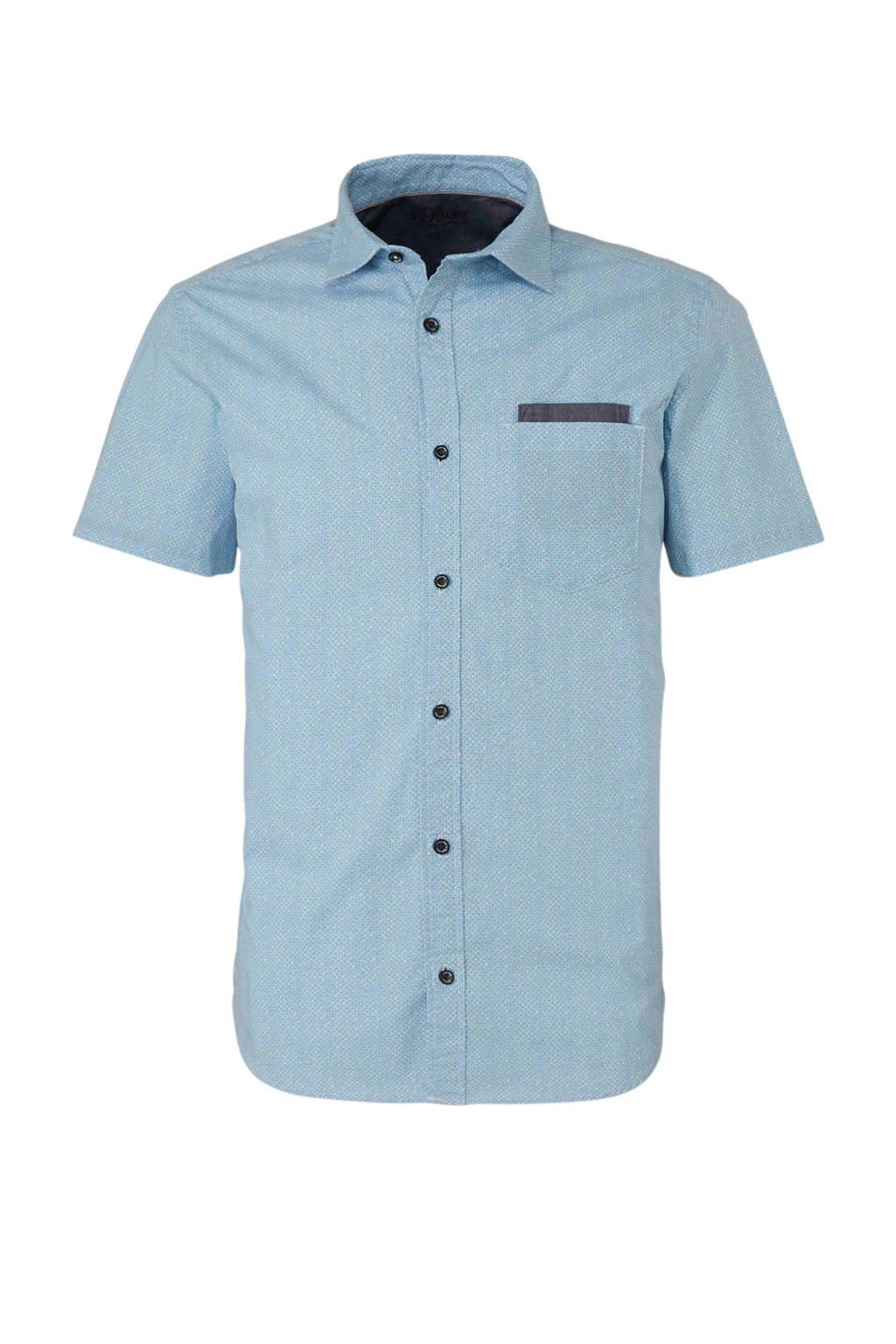Slim Fit Overhemd.S Oliver Slim Fit Overhemd Wehkamp