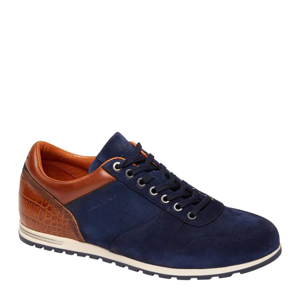 Van Lier  suède sneakers donkerblauw, Donkerblauw