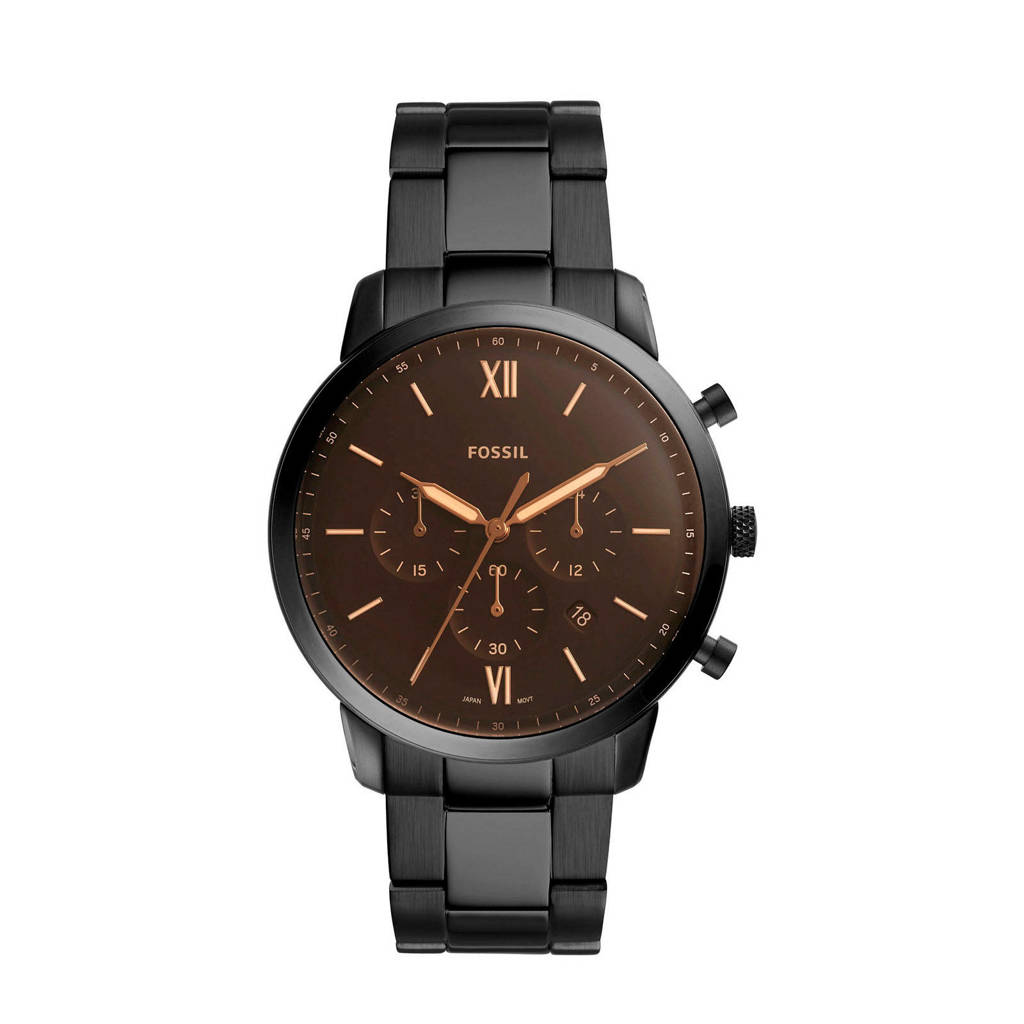 Fossil Neutra Chrono Heren Horloge FS5525, Zwart