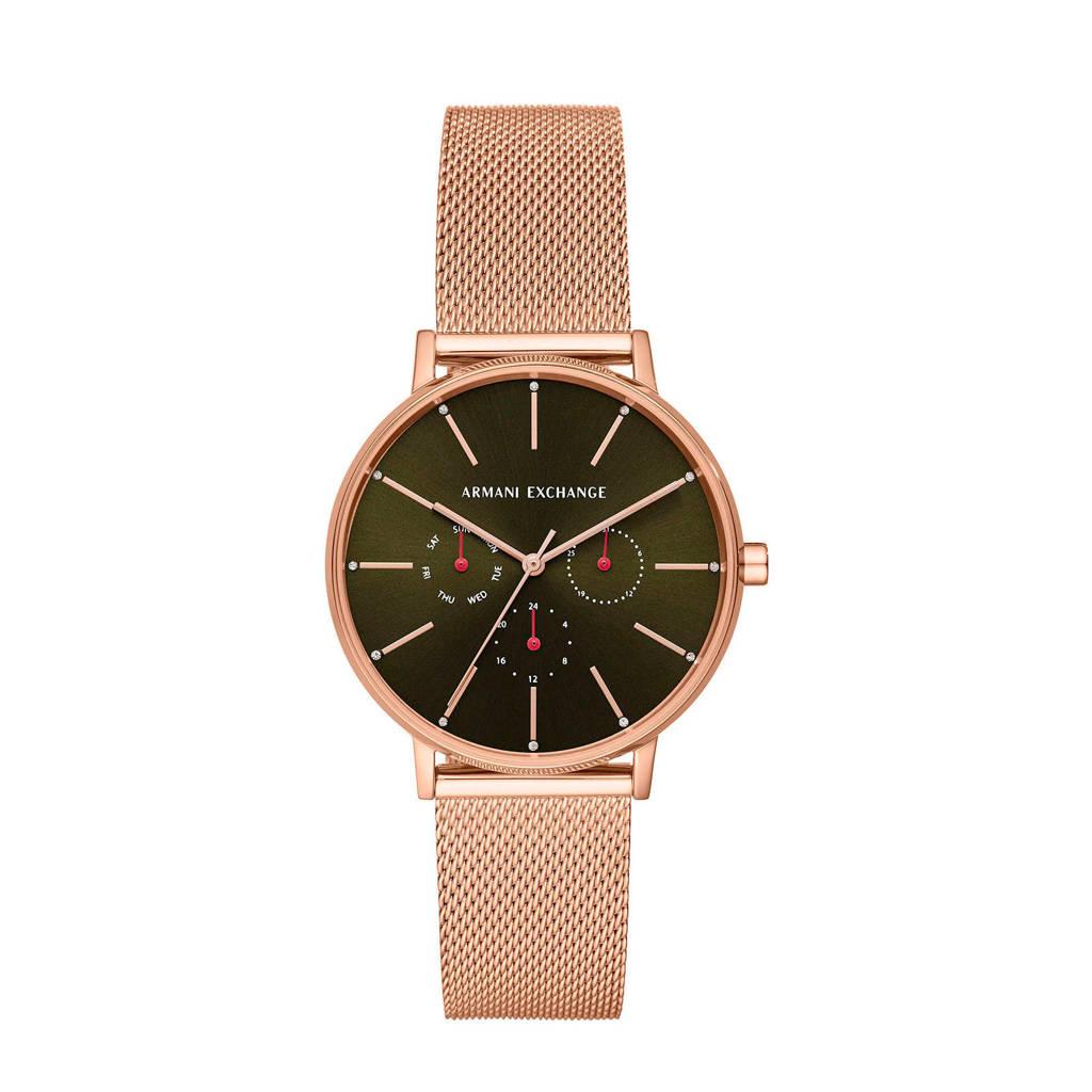 Armani Exchange dames horloge Lola AX5555, Roségoudkleur